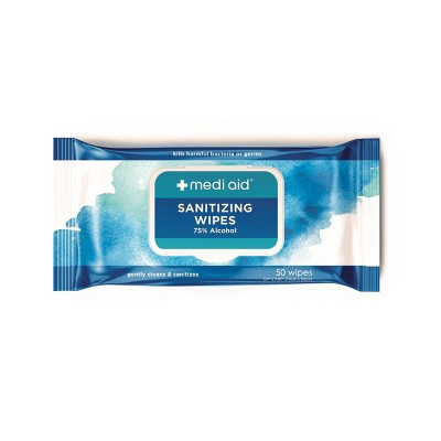 MediAid Sanitizing Wipes - 50ct