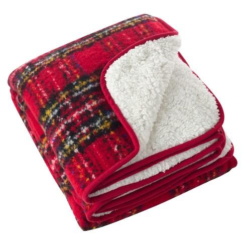 "Red Sevan Faux Mohair Design Throw Blankets (50""x60"") - Saro Lifestyle - image 1 of 3"