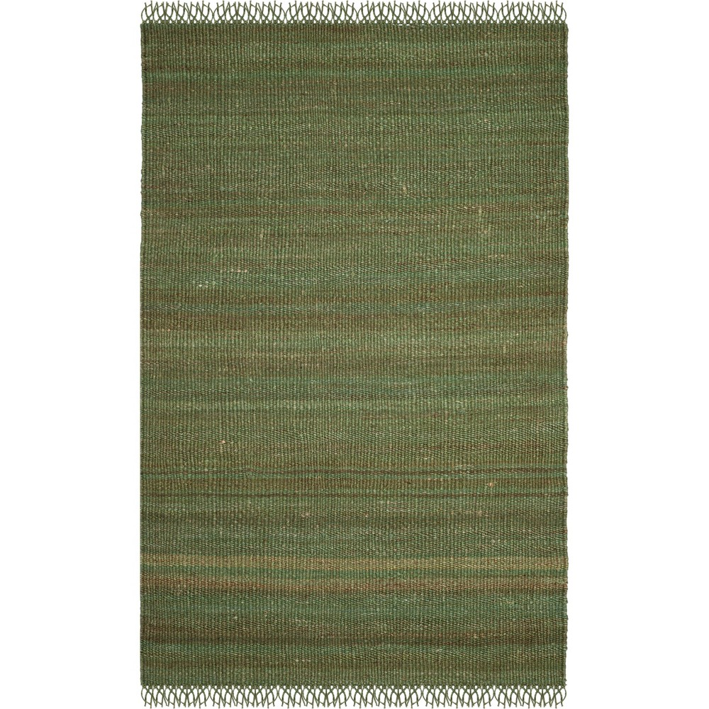5 X8 Solid Woven Area Rug Green Safavieh