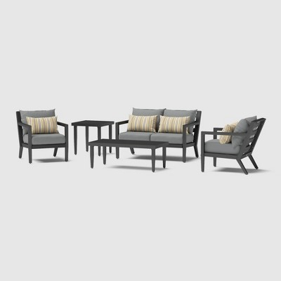Thelix 5pc Seating Set - Charcoal Gray - RST Brands