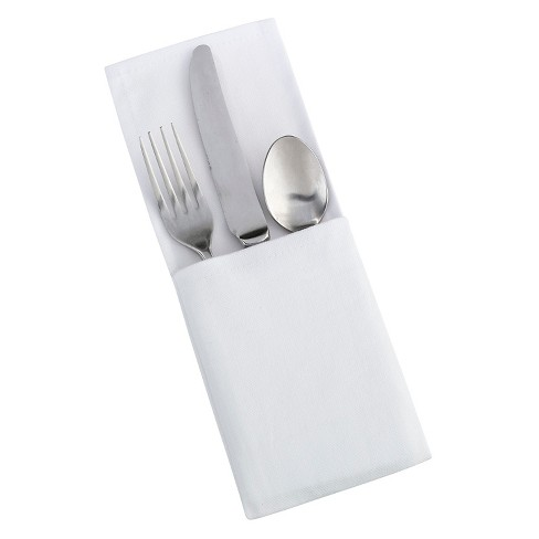 4ct White Silverware Holders - image 1 of 1