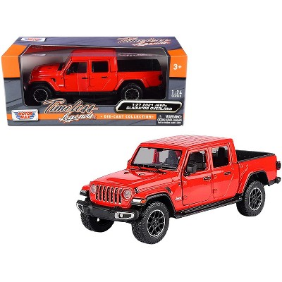 2021 Jeep Gladiator Overland (Closed Top) Pickup Truck Red 1/24-1/27 Diecast Model Car by Motormax