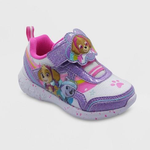 Toddler Girls' PAW Patrol Athletic Sneakers - White - image 1 of 4
