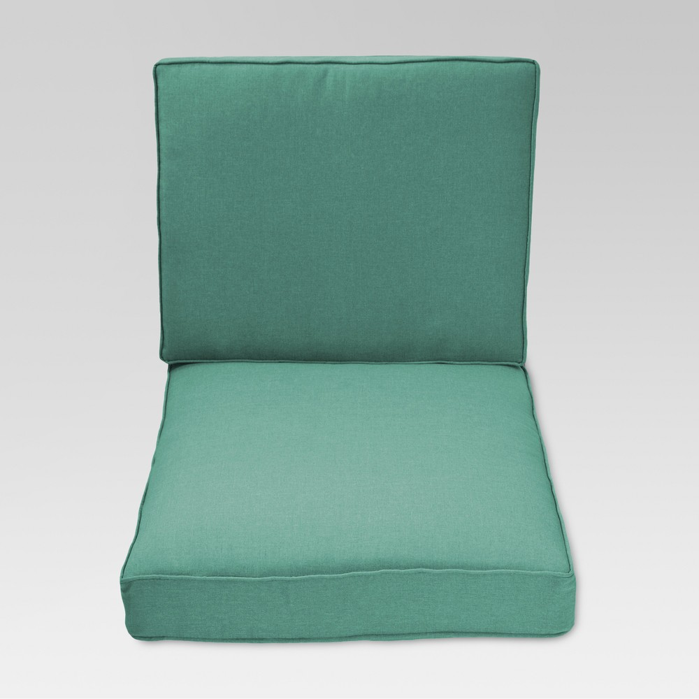 Halsted 2pc Outdoor Deep Seating Cushion Set - Turquoise - Threshold