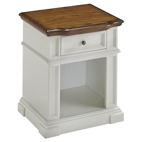 Americana Nightstand White/Distressed Oak - Home Styles - image 1 of 1