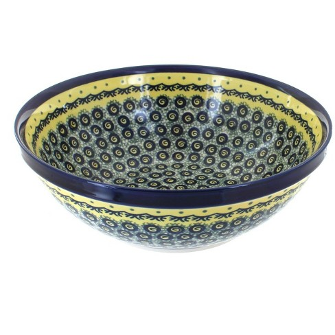 Blue Rose Polish Pottery Renaissance Large Serving Bowl - image 1 of 1