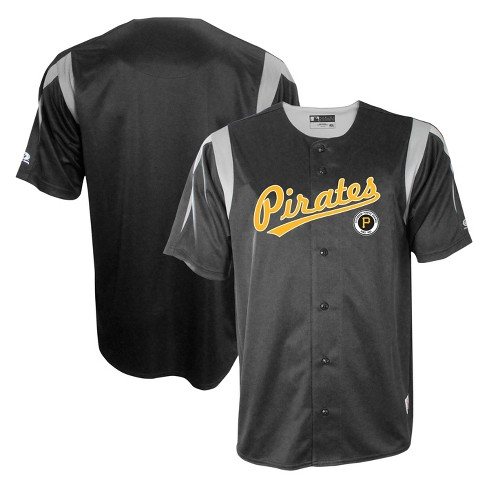 release date 1f77c 02ff3 Pittsburgh Pirates Men's Button-Down Team Jersey - XXL