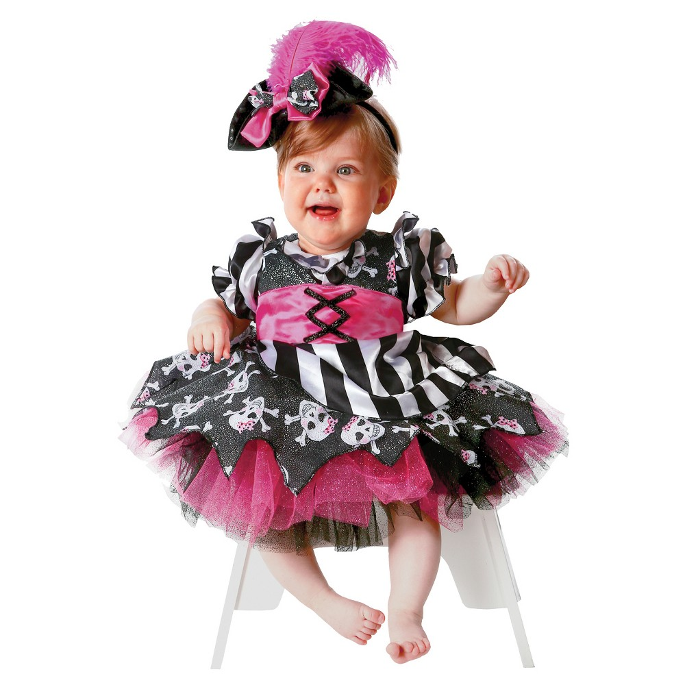 Girls' Abigail The Pirate Toddler Costume 12-18m, Multicolored