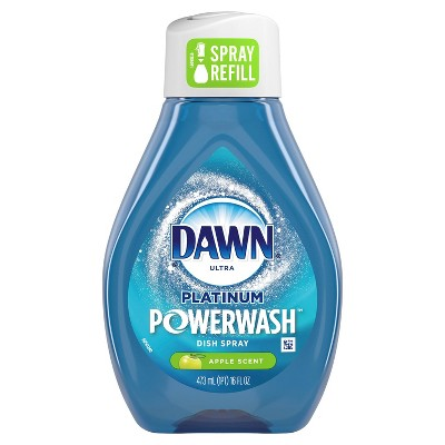 Dawn Platinum Powerwash Dish Spray, Dish Soap, Apple Scent Refill - 16oz