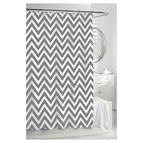 Chevron Shower Curtain Graywhite Kassatex