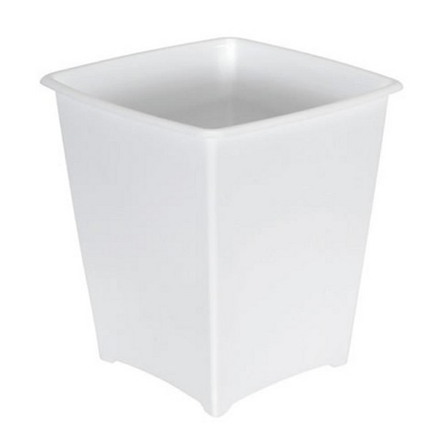 Rubbermaid 8 Quart Traditional Square Top Bedroom Bathroom And Office Wastebasket Trash Can White Target