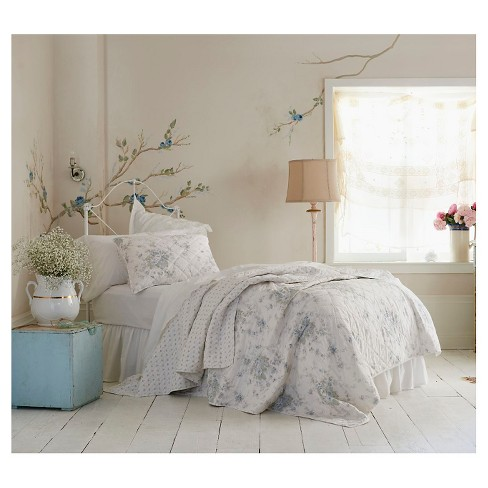 teal white shadow rose quilt simply shabby chic target