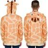 Funziez! Giraffe Men's Hooded Sweatshirt - image 3 of 4
