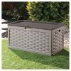 Rattan Deck Box 88 Gallon - Mocha Brown - Starplast - image 2 of 4