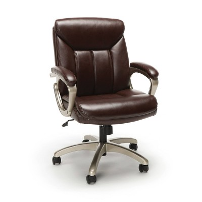 Essentials Collection Executive Office Chair Brown/Champagne - OFM