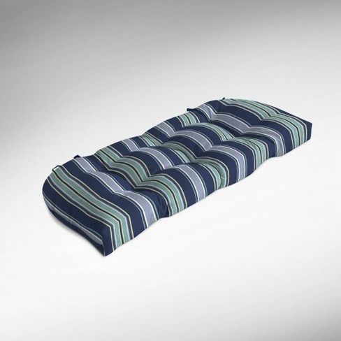 Aurora Stripe Wicker Settee Cushion Sapphire - Arden Selections - image 1 of 2