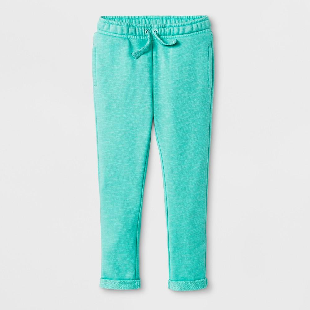 Toddler Girls' Jogger Pants - Cat & Jack Iridescent Green 12M