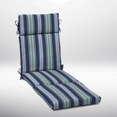 Aurora Stripe Cartridge Chaise Cushion Sapphire - Arden Selections - image 1 of 4