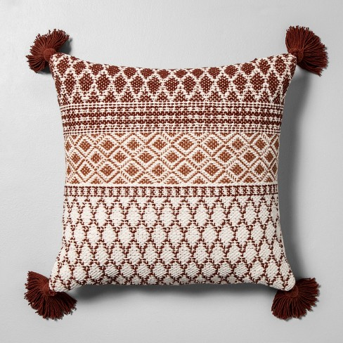 Pattern Throw Pillow Beige / Rust - Hearth & Hand™ with Magnolia - image 1 of 4