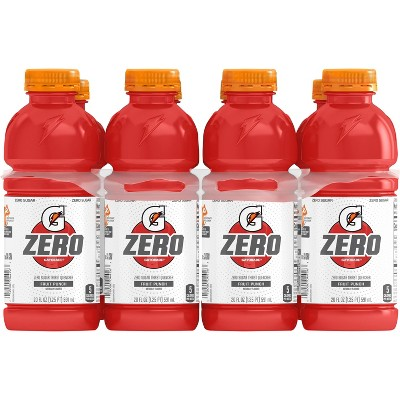 Gatorade G Zero Fruit Punch Sports Drink - 8pk/20 fl oz Bottles