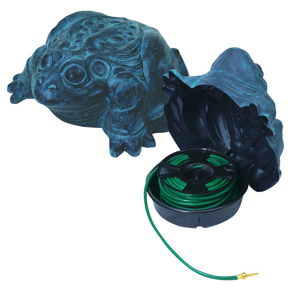 Image of Emsco Darwood Frog Deluxe Hose Hider with Hose Reel, Blue
