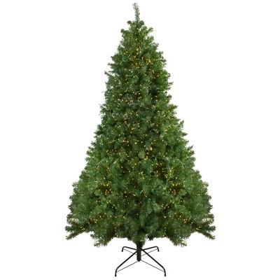 Northlight 7.5' Pre-Lit Artificial Christmas Tree Pike River Fir - Multi-Color LED Lights
