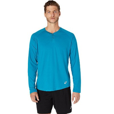ASICS Men's Perf Long Sleeve Henley Training Apparel 2031B179