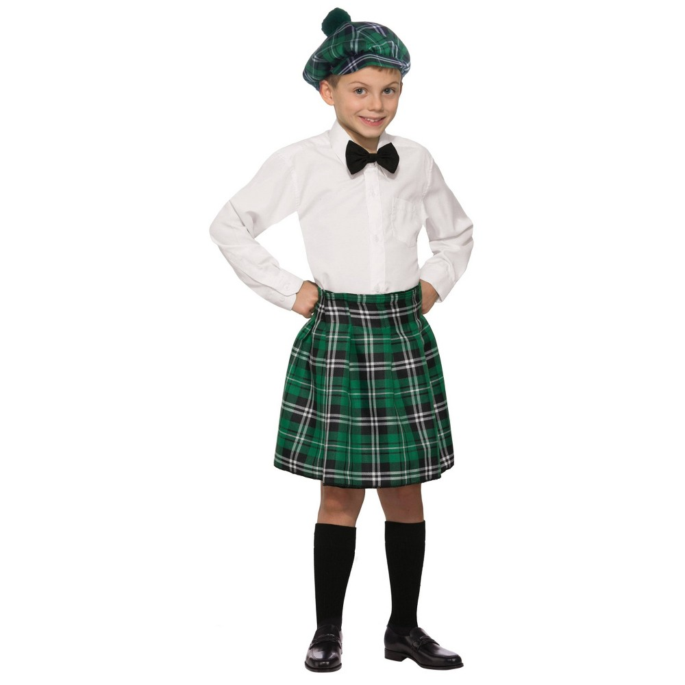 Kids' Irish Costume Kilt One Size, Boy's, Green