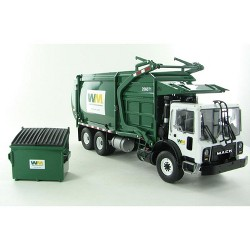 "Mack TerraPro ""Waste Management"" Front Load Refuse Truck with Bin 1/34 Diecast Model by First Gear"