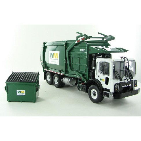 Mack Waste Management TerraPro Front Load Refuse Garbage Truck with Bin 1/34 Diecast Model by First Gear - image 1 of 4