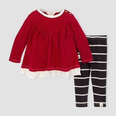 Burt's Bees Baby® Baby Girls' Organic Cotton Thermal Tunic and Leggings Set - Pink 9M