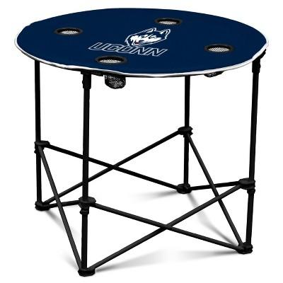 NCAA UConn Huskies Round Portable Dining Table