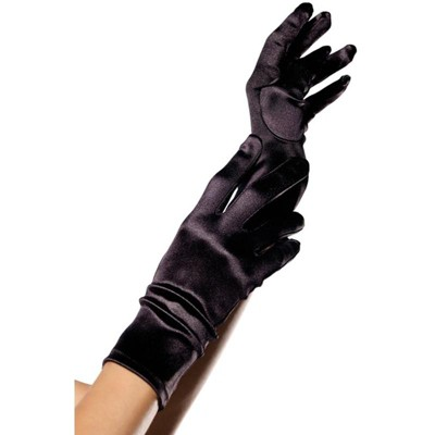 Leg Avenue Wrist Length Satin Gloves