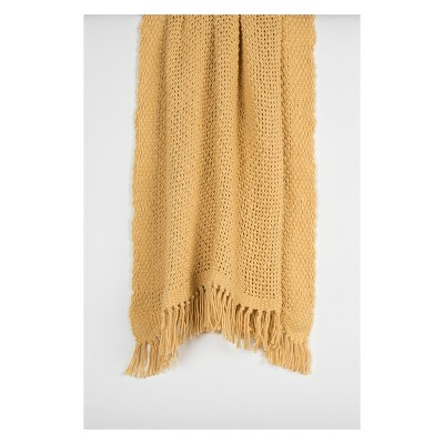 Throw Blankets 50 X60  Yellow - Rizzy Home