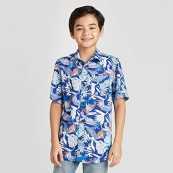 Boys' Short Sleeve Button-Down Challis Shirt - Cat & Jack™