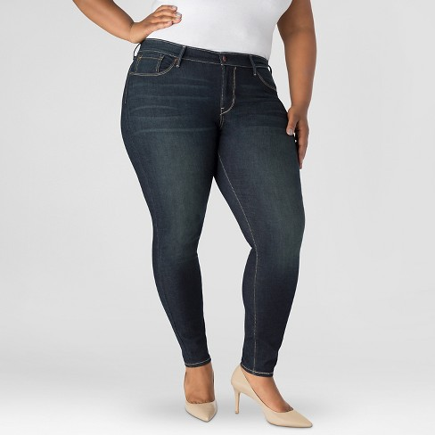 872522a1ff9 DENIZEN® From Levi s® Women s Plus Size Essential Stretch Shaping Curvy  Skinny Jeans Medium Blue 26W   Target
