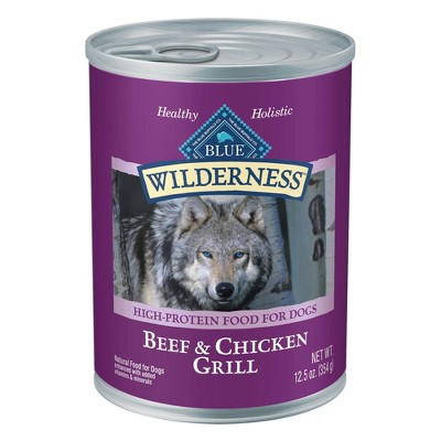 Blue Buffalo Wilderness High Protien Grain free Wet Dog Food - 12.5oz