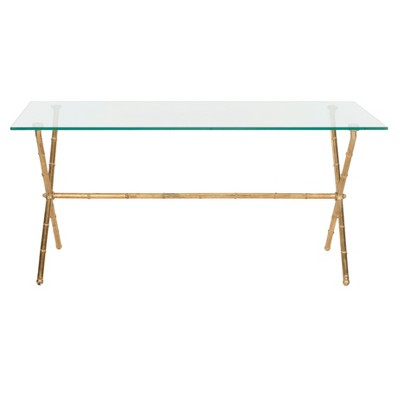 Brogen Accent Table - Clear/Gold - Safavieh®