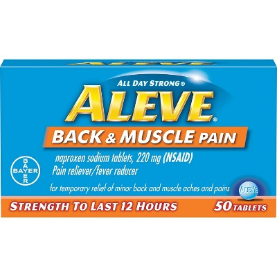 Pain Relievers: Aleve Back & Muscle