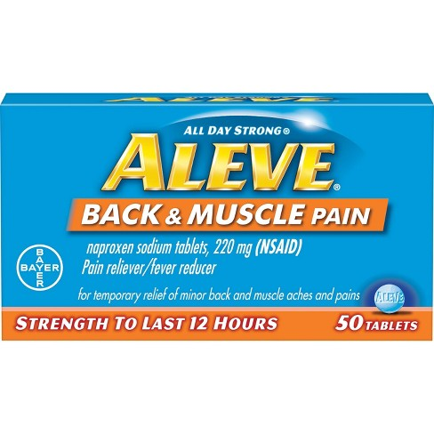 Aleve Back & Muscle Pain Reliever Tablets - Naproxen Sodium (NSAID) - image 1 of 4