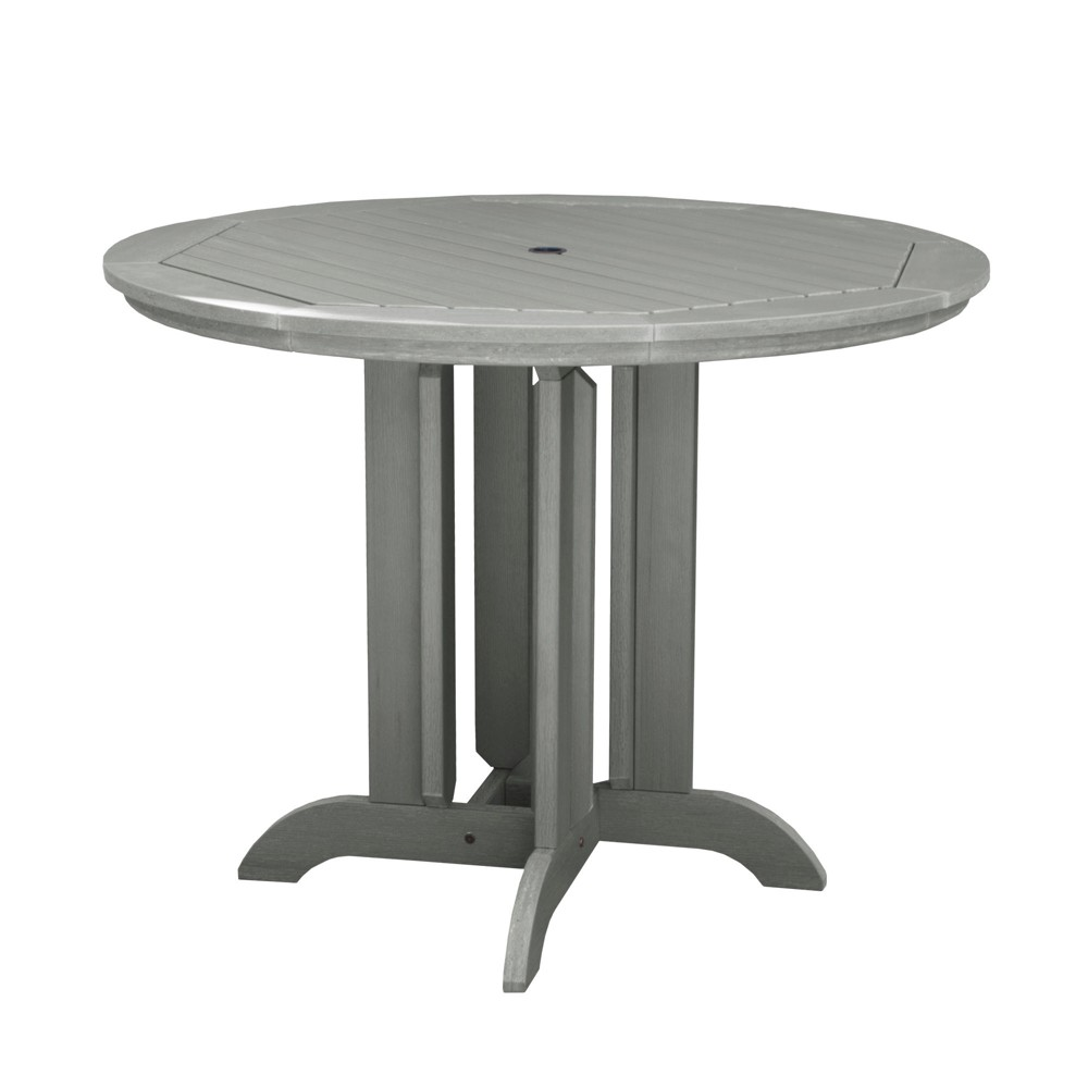 Round 48 Counter Dining Table Coastal Teak Gray- Highwood, Coastal Teak Gray