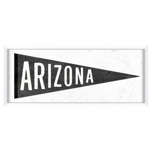 "AZ Pennant Black/White 8""x20"" - Patton - image 1 of 1"