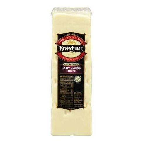 Kretschmar Baby Swiss Cheese - price per lb - image 1 of 3
