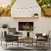 2pk Wicker & Metal X Frame Patio Accent Chairs - Gray  - Threshold™ designed with Studio McGee - image 2 of 4