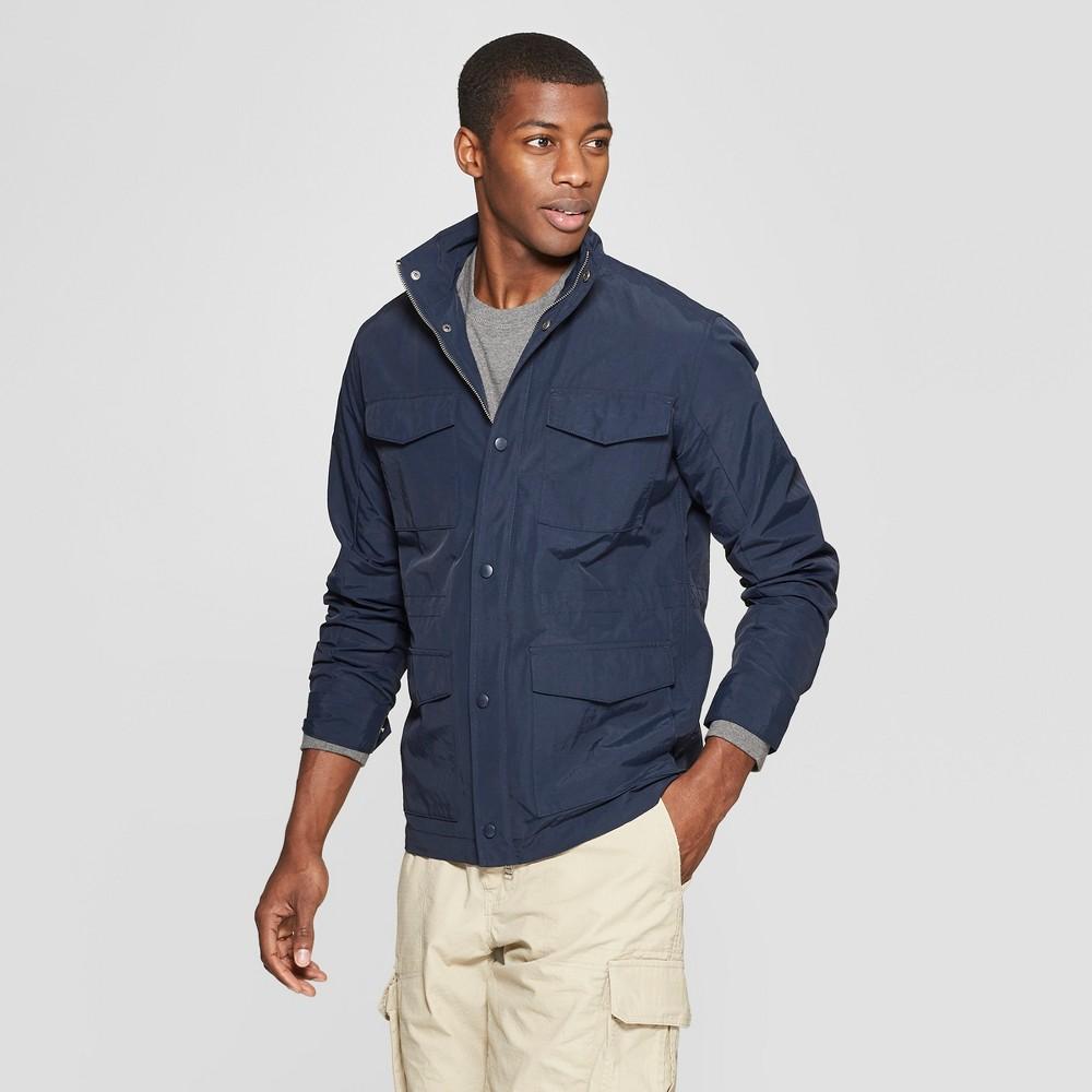 Men's Nylon 4-Pocket Field Jacket - Goodfellow & Co Navy 2XL, Blue