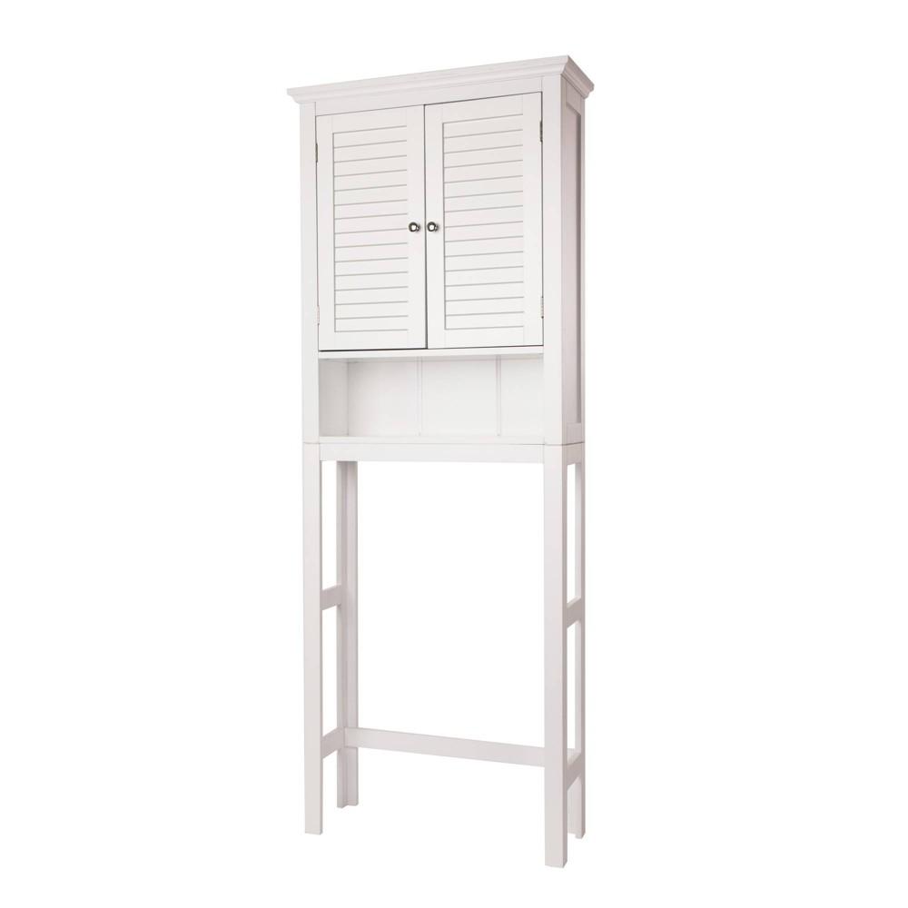 Bathroom Cabinet Spacesaver White - Glitzhome