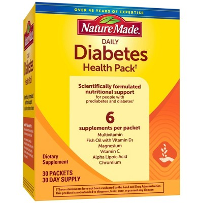 Nature Made Diabetes Health Pack with EPA and DHA - 30ct