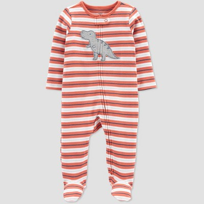 Baby Boys' Dino Striped Sleep N' Play - Just One You® made by carter's Orange 3M