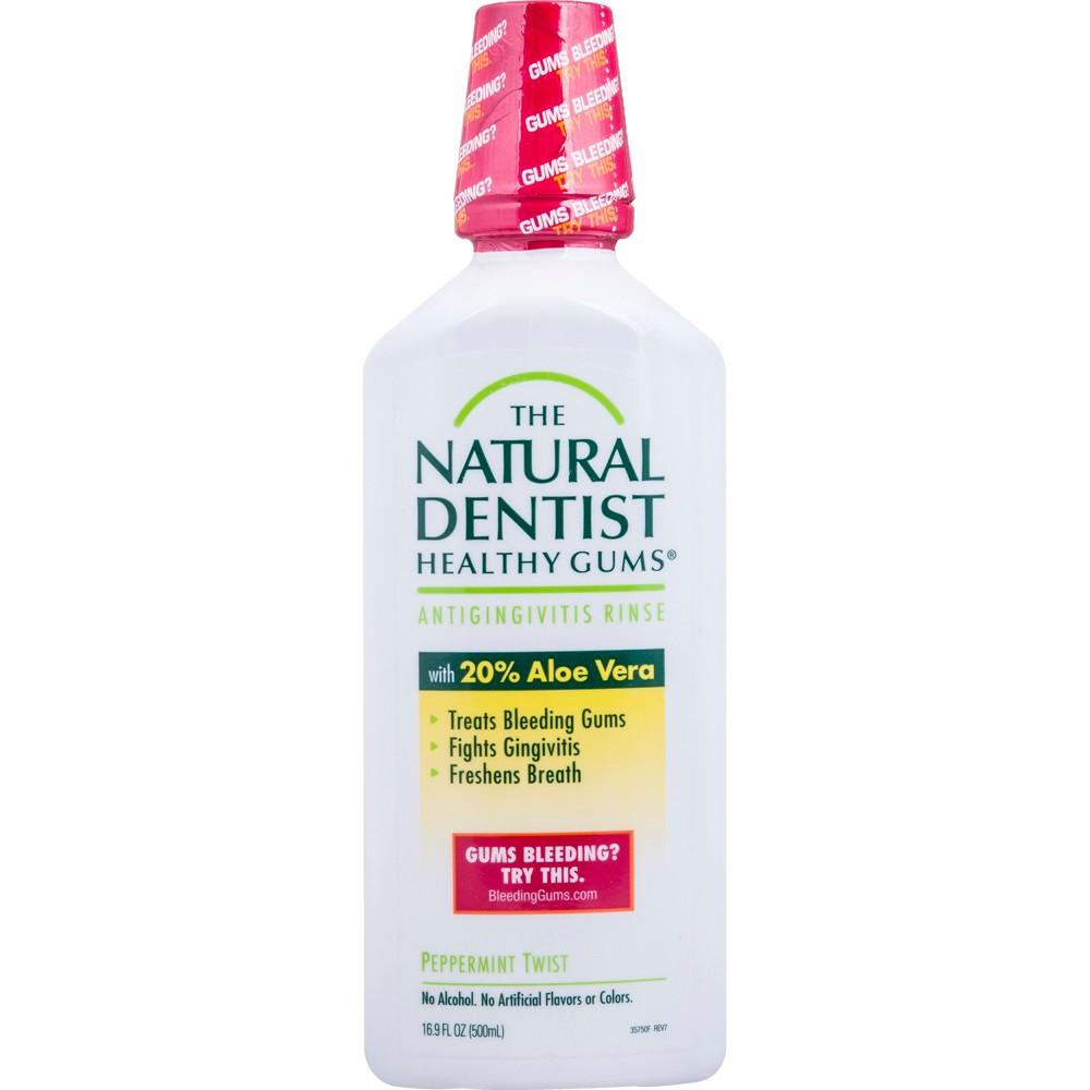 The Natural Dentist Healthy Gums Antigingivitis Rinse Peppermint Twist - 16.9floz