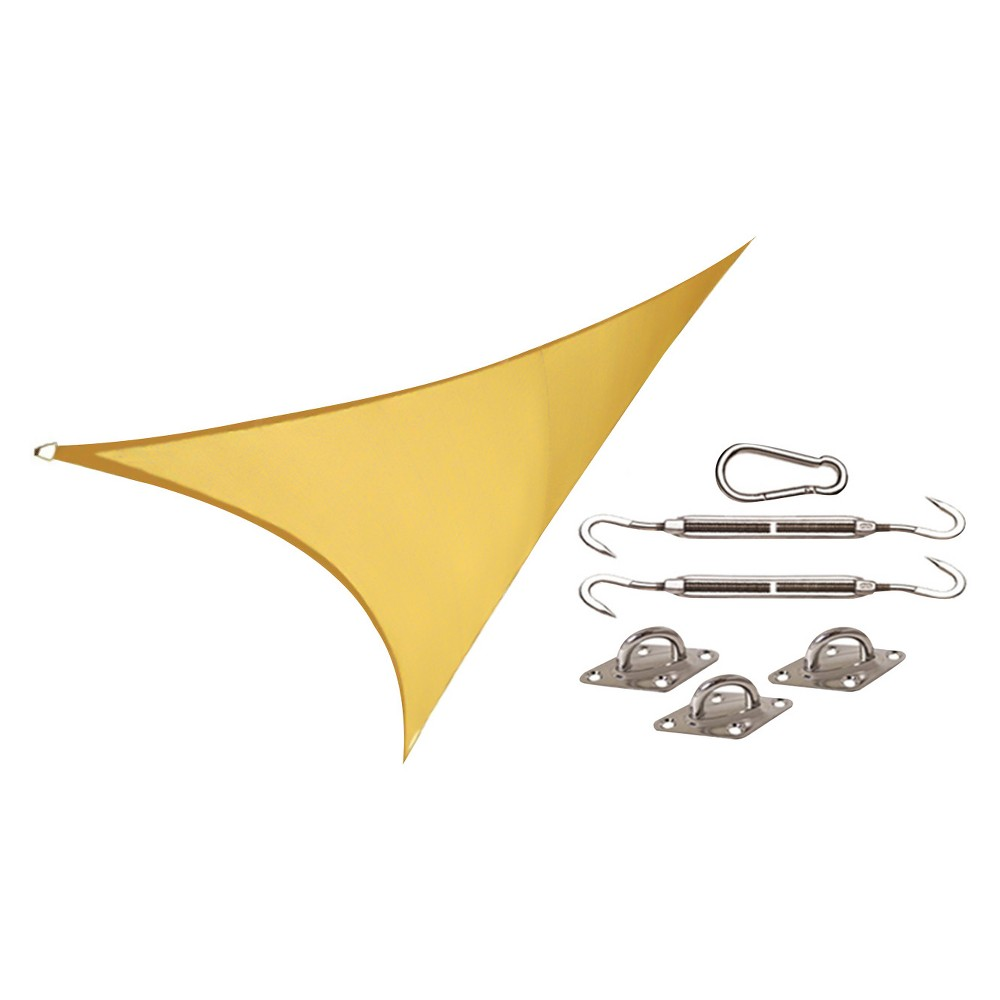 Image of Coolhaven Shade Sail Kit Square 12' - Sahara (Red) - Coolaroo